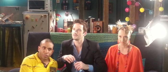 Photo du comédien Brice Ormain, avec Audrey Lamy et Loup-Denis elion